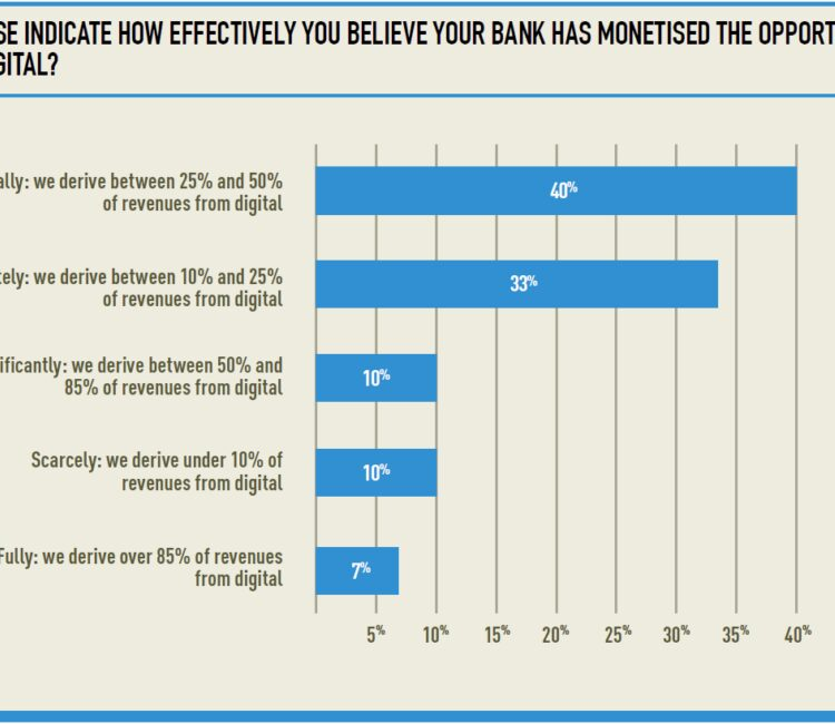 How effectively do you think your bank has monetised the opportunity of digital
